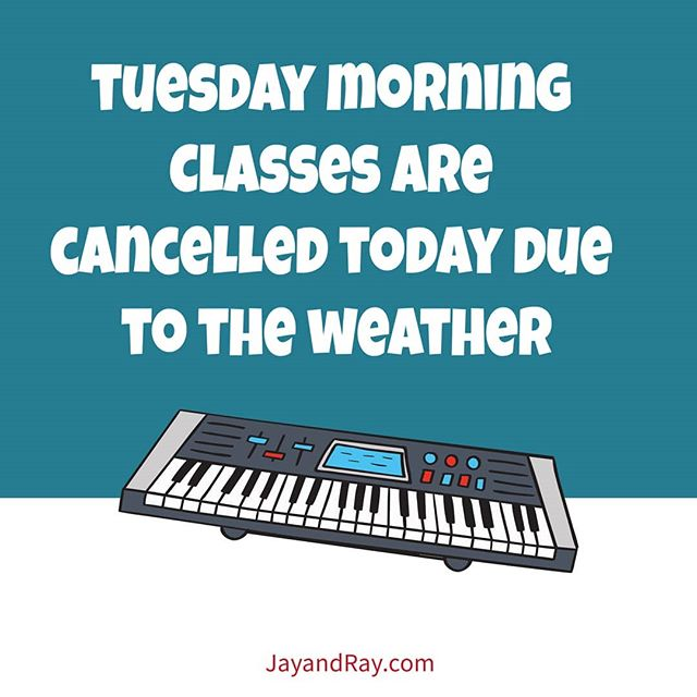 We decided to cancel this morning's class due to the weather. Make sure to email us to schedule your makeup! We're watching the weather, so check back here for the status of the afternoon classes. Stay warm!