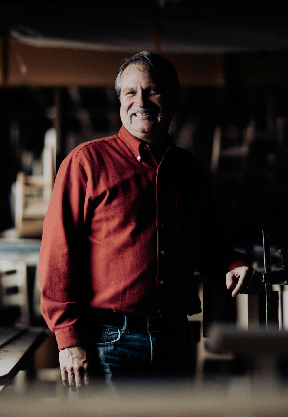 Jerry Whitmer:  Owner, jack of all trades  In running Whitmer Woodworks, Jerry relies on his life experiences as a farm kid, graphic designer/printer, and coach. His farm days taught him to get the job done when the sun is shining. In the design/printing field, he learned that deadlines must be met. As a coach, he learned to adapt to bad conditions and ever-changing team dynamics.  To Jerry, working with clients means listening to their needs, asking questions, and then coming up with solutions. As a businessman, his philosophy is the Golden Rule: Treat others as you would like to be treated. It leads to a great atmosphere in the work place, and all the other stuff falls into place.
