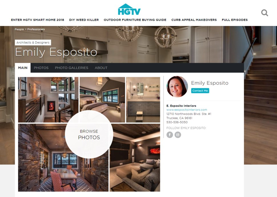 HGTV - Featured as a professional interior designer on HGTV.com