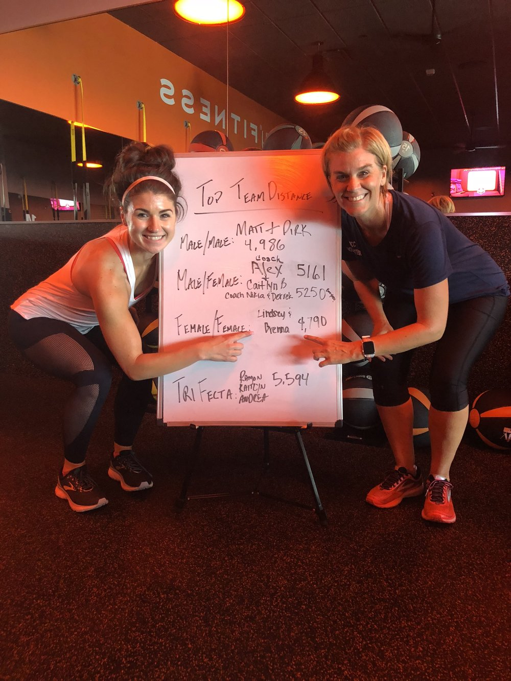 We finally made the board! Favorite partner workout ever.