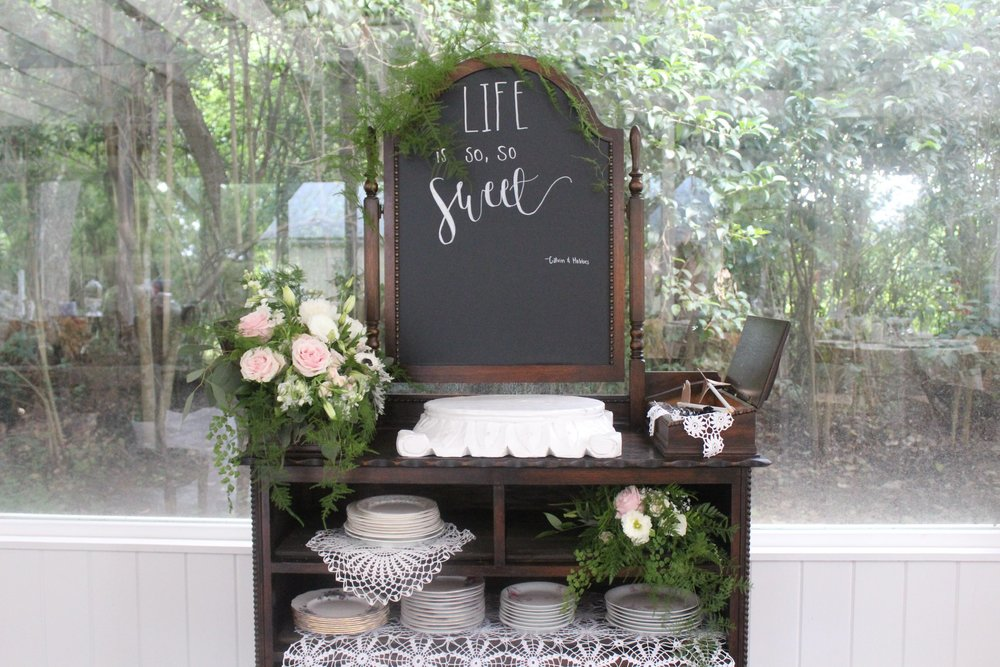 Ramble and Rove Blog - Simply Splendid Rentals - wedding rental - cake table