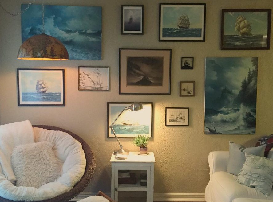 My favorite gallery wall in Callie's and my apartment.