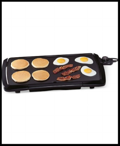 This griddle is a must for all breakfast lovers like myself! I would also use this for meal prep too when a skillet isn't large enough.