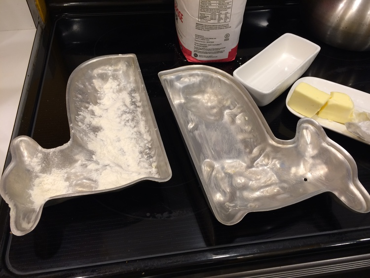 The lamb cake mold.