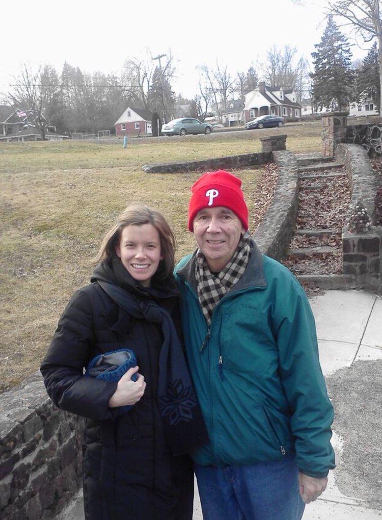 Dad and I taking a walk near Hubbard Park.