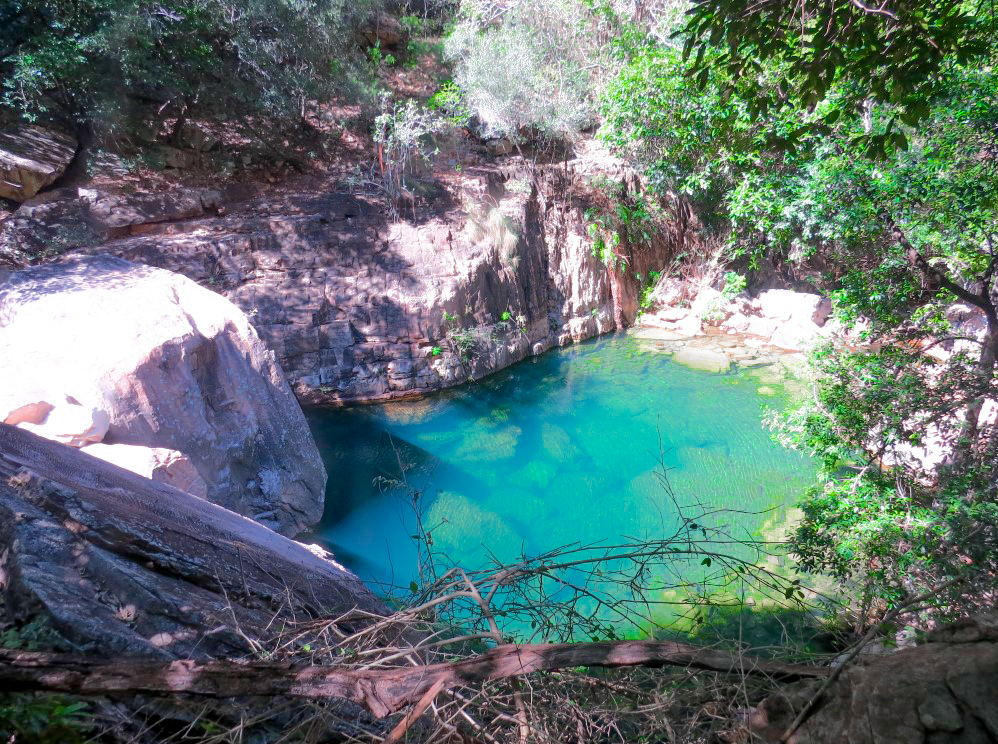 Crystal clear swimming hole