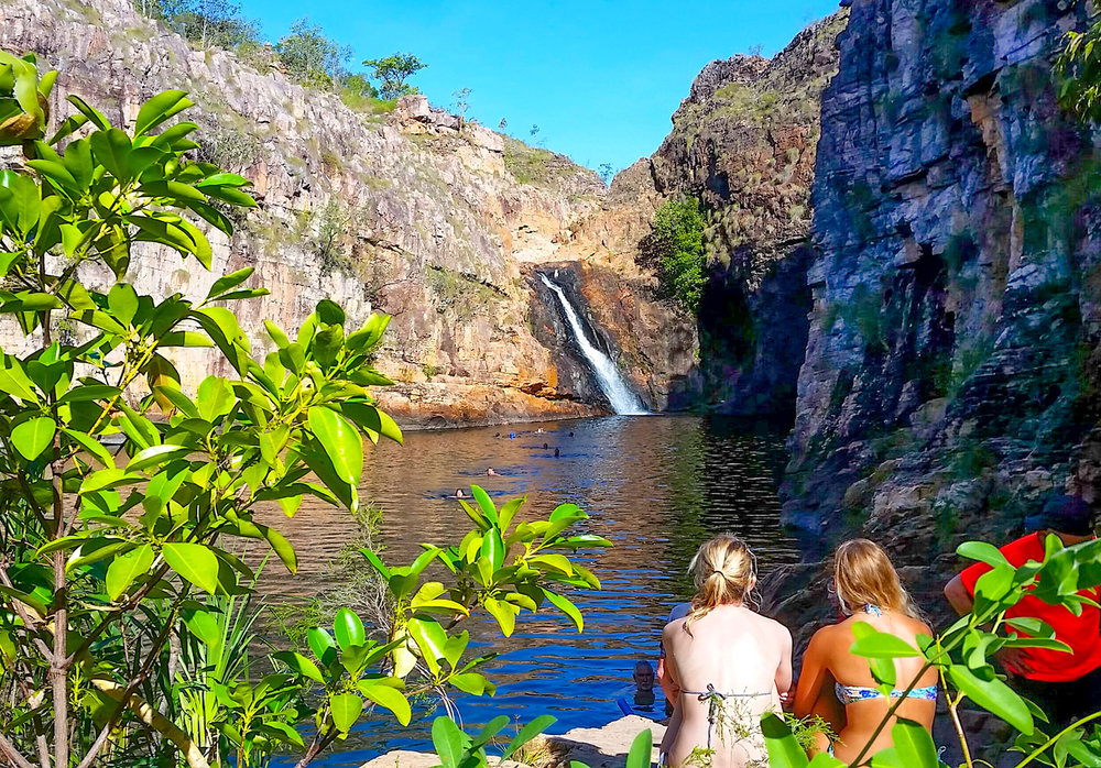 You'll have the opportunity to cool off in Maguk (Barramundi Gorge)