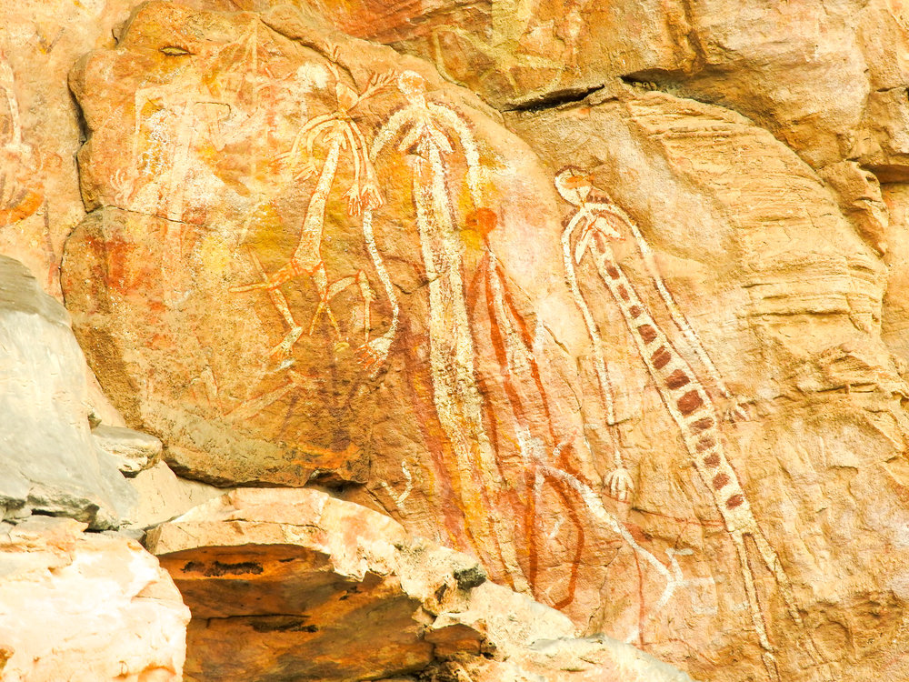 Ancient rock art in the Arnhem Land escarpment