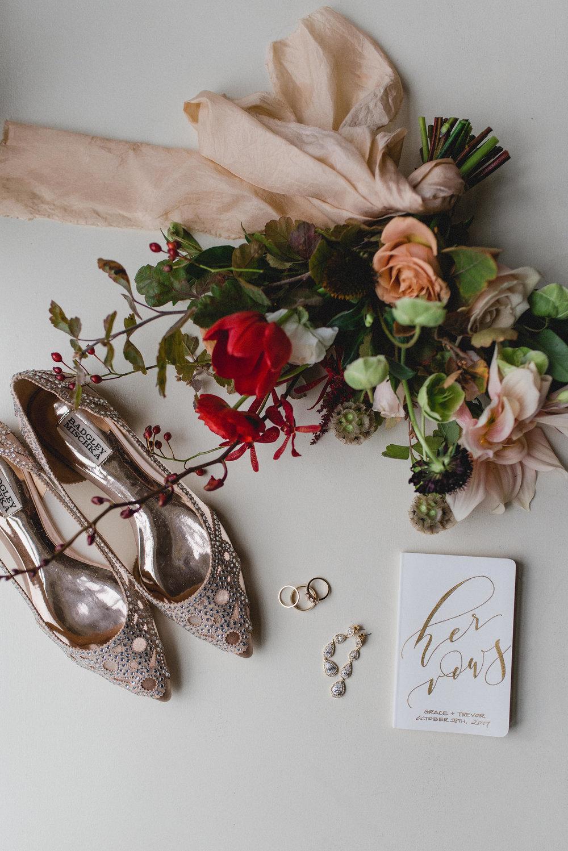 Fall in love - G + T 's romantic fall wedding