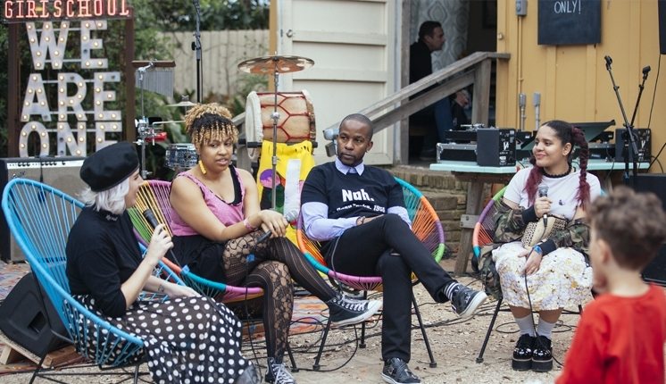 GIRLSCHOOL @ SXSW - HASHTAGS INTO ACTION - HOW TO TURN SOCIAL MEDIA INTO REAL CHANGE W/ WHITNEY BELL, WADE A DAVIS, LIDO PIMIENTA, SHANTHONEY EXUM (AKA MISS EAVES)