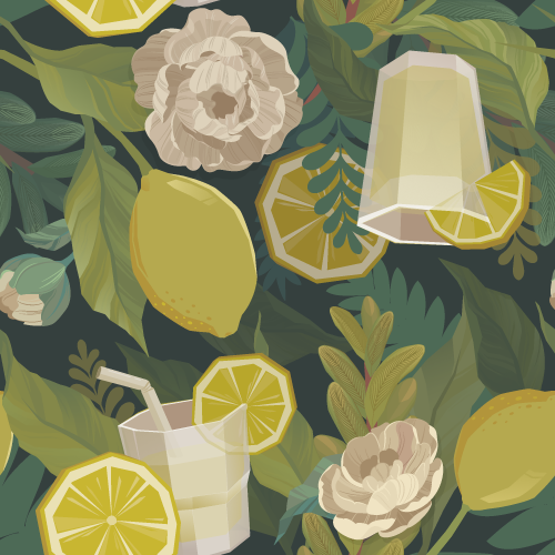 FLORAL LEMONADE (seamless pattern)