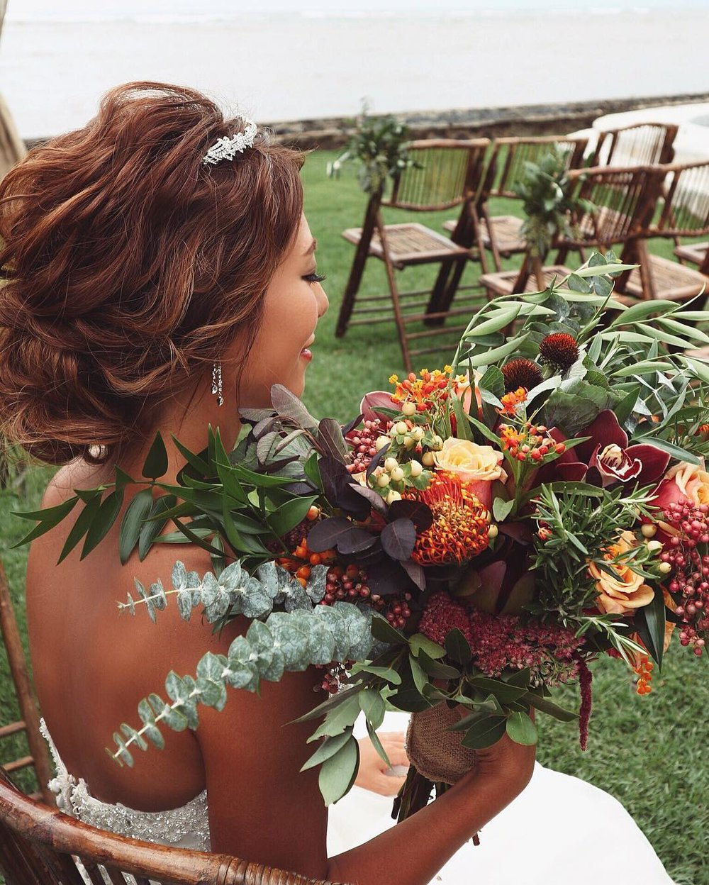 Bridal Flowers Hawaii Moya Wedding