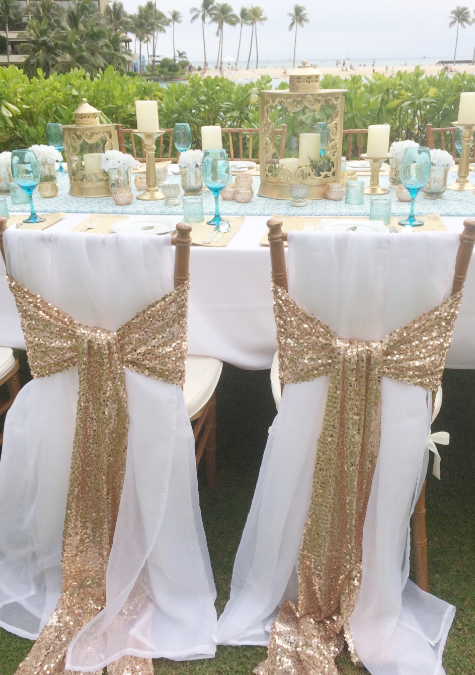 Bridal Flowers Hawaii Chair Deco