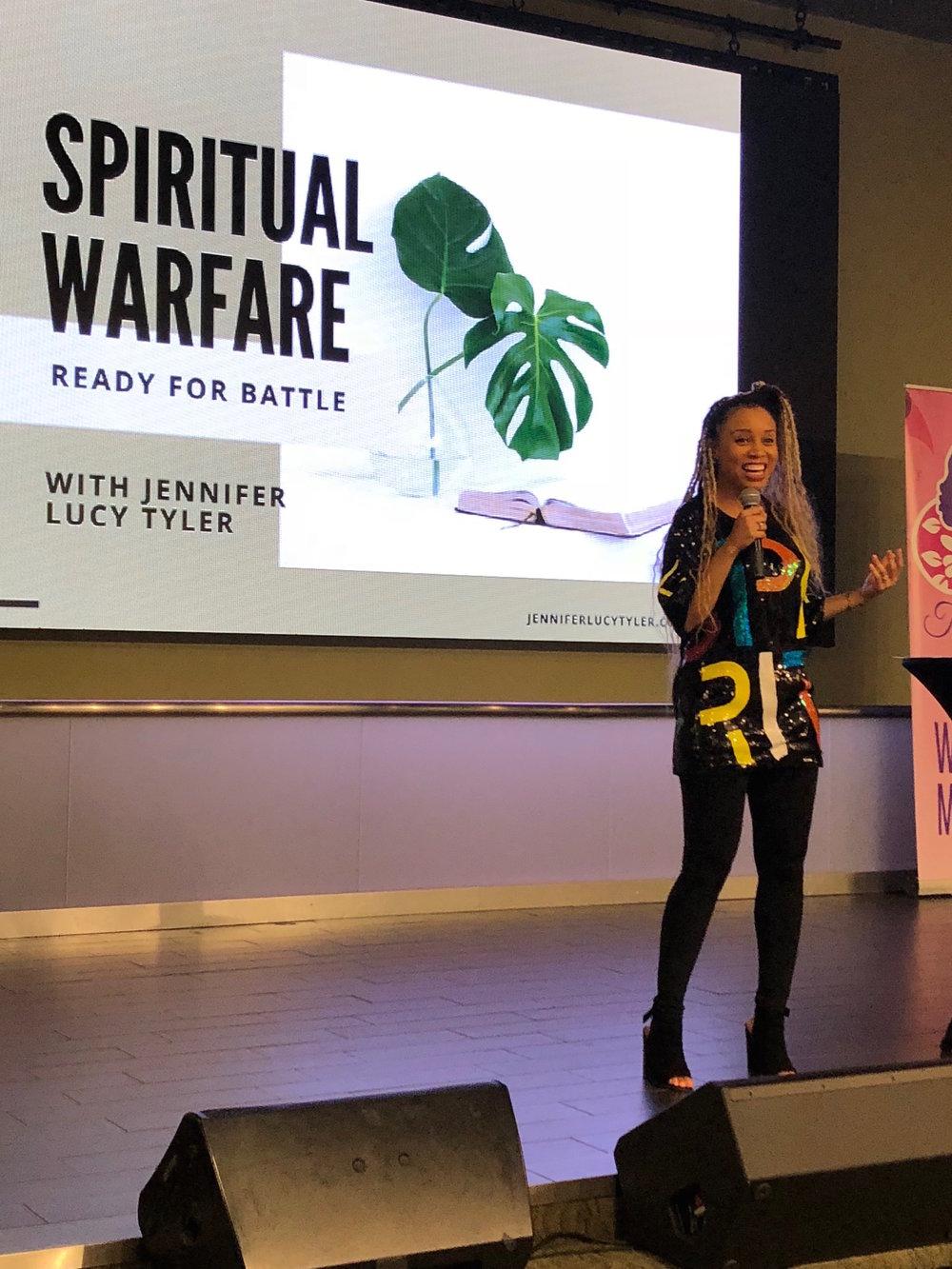 Teaching on Spiritual Warfare at Zion Church, Landover, MD