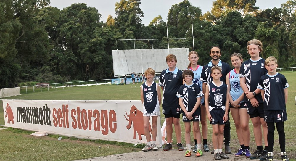 Hinterland Blues Major Sponsor - Mammoth took over as the major sponsor for the Hinterland Blues Australian Football Club in 2018.
