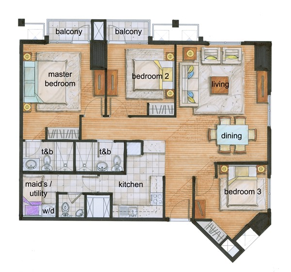 Example floor plan, via Wikimedia Commons