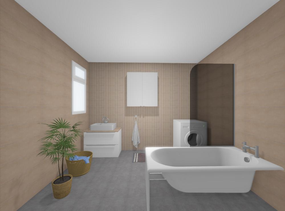 An example bathroom rendered in the DigitalBridge SDK