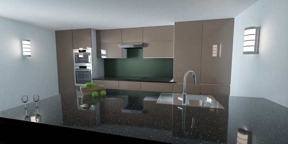 GPU render of a users kitchen from an existing project.