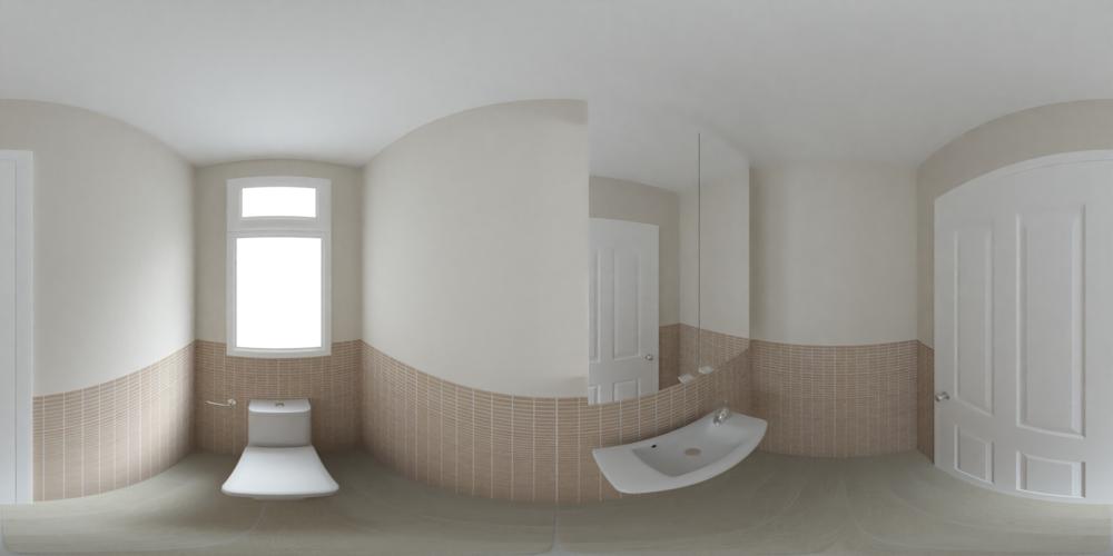 An equirectangular or '360 panorama' image.
