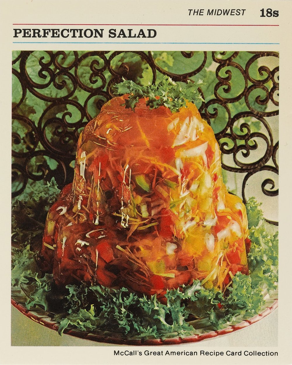 Gelatine moulding seemed very on-trend -  McCall's Great American Recipe Cards