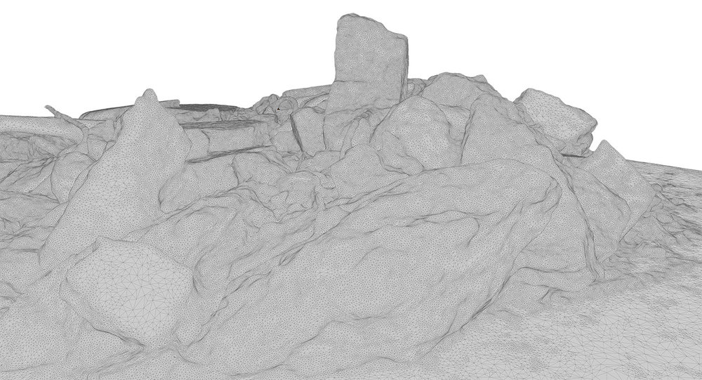 3D model of the rubble made with the photogrammetry software Autodesk ReMake