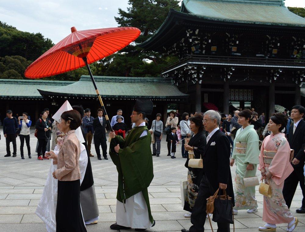 Γιαπωνέζικος γάμος - closeup