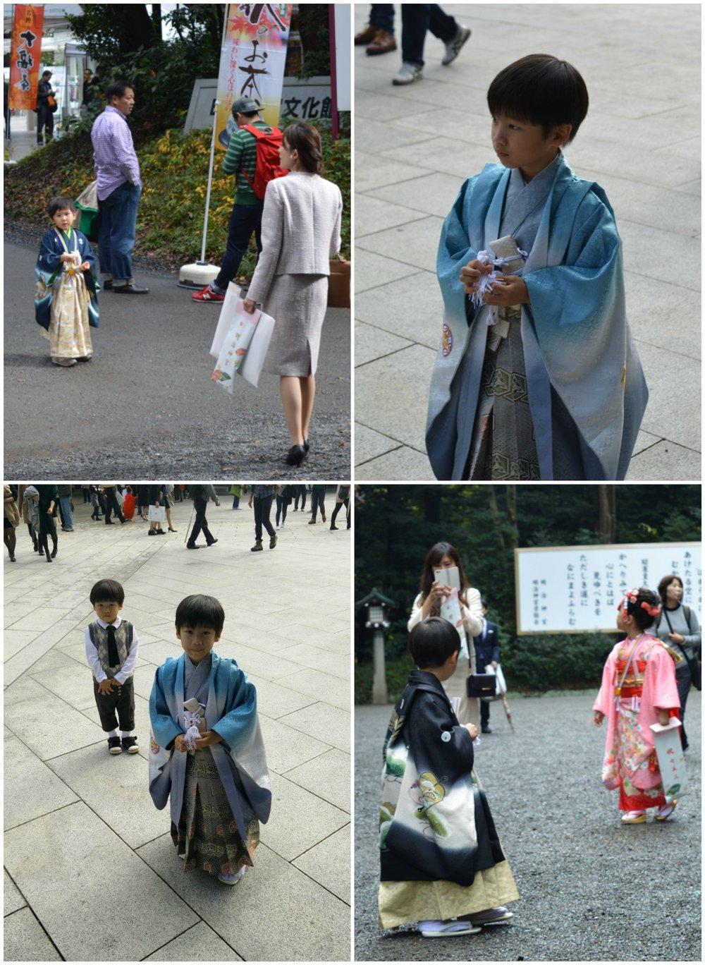 Χαριτωμένα παιδιά με κιμονό