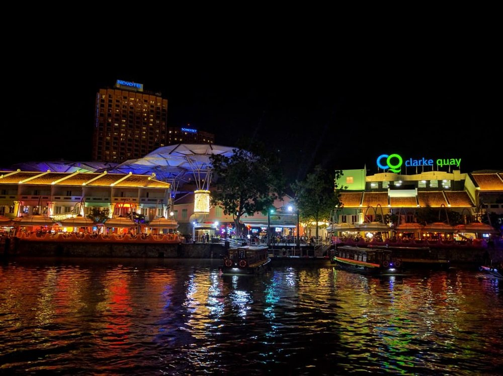 Drinks at the Clarke Quay neighborhood
