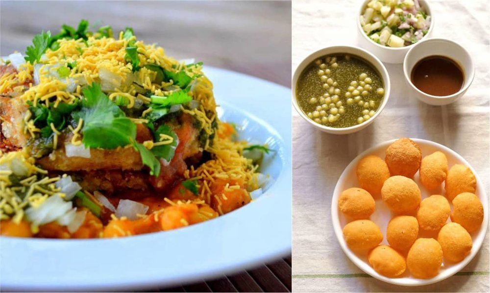A plethora of chaat options