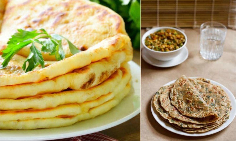 Variety of Paranthas