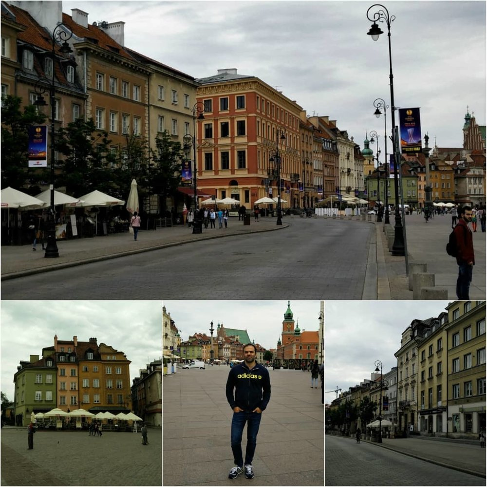 Buildings around Castle Square in Warsaw