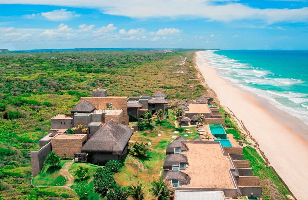 Panoramic view of Kenoa Beach resort and spa in Brazil
