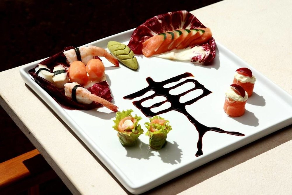 Sushi gastronomic art in Kenoa's restaurant