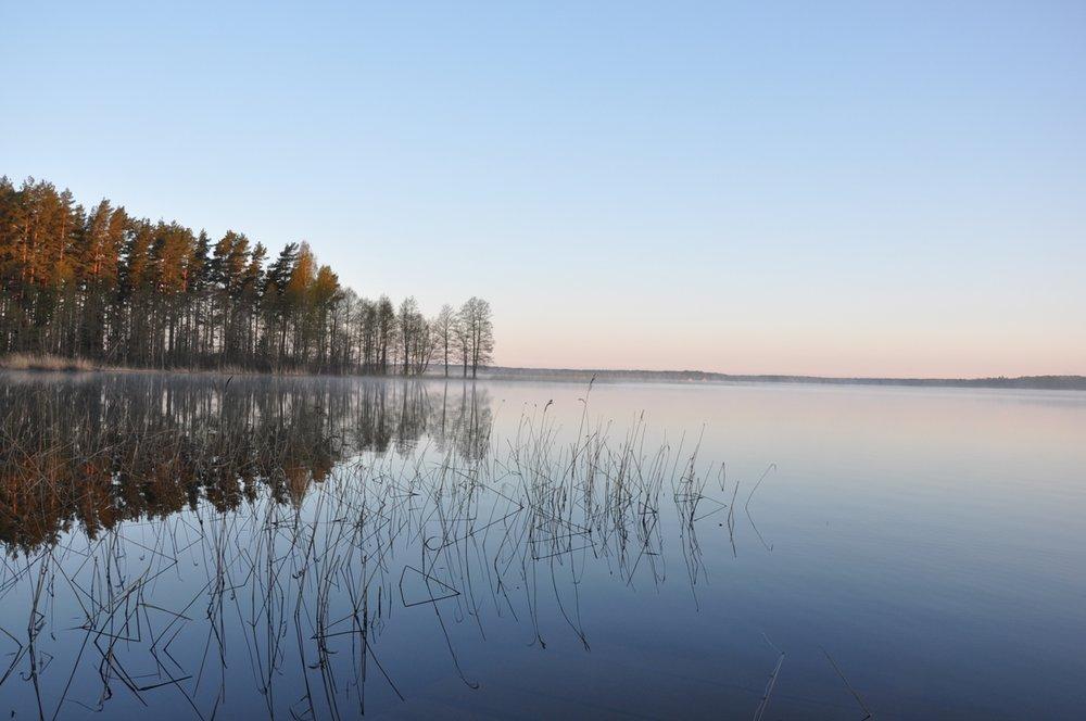 Landscape in Latvian countryside