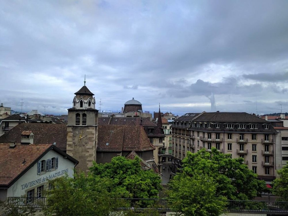 View from Geneva's cathedral