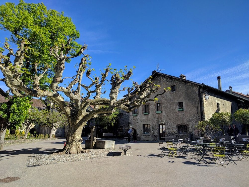 Picturesque square in Yvoire