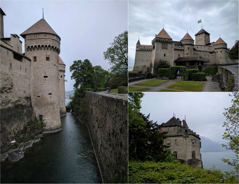 Views from Chateau de Chillon in Switzerland