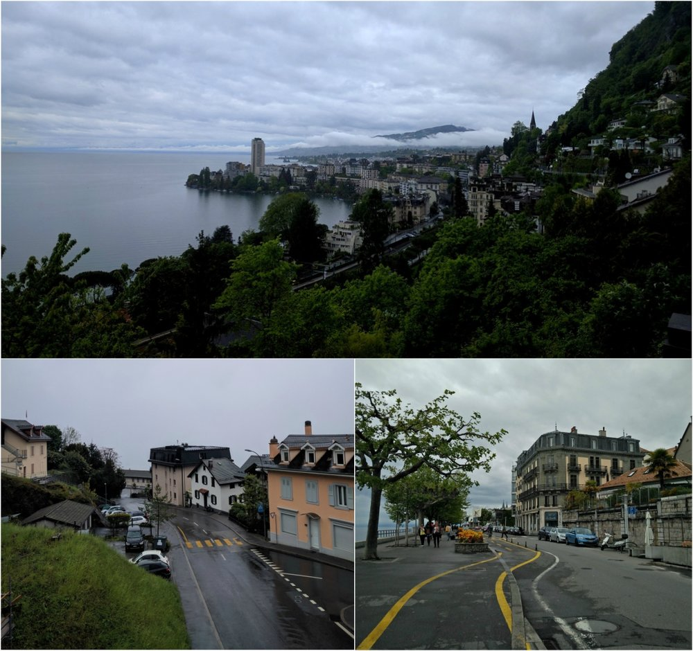 Views of Montreux and Vevey around lake Geneva