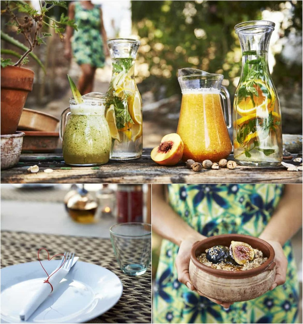 Organic Mediterranean-style food