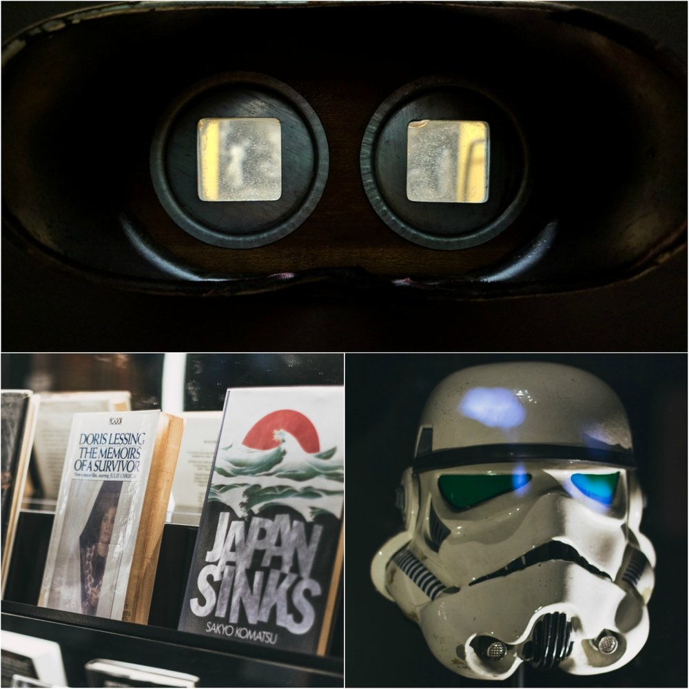 Books, masks and binoculars introduce you to the sci-fi genre