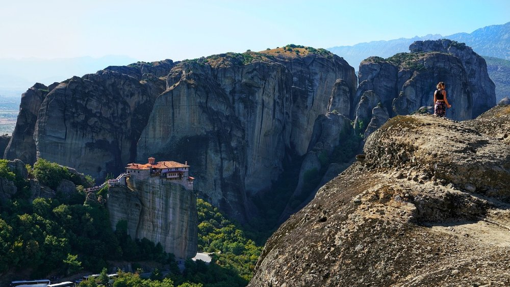 Gigantic rock formations in Meteora