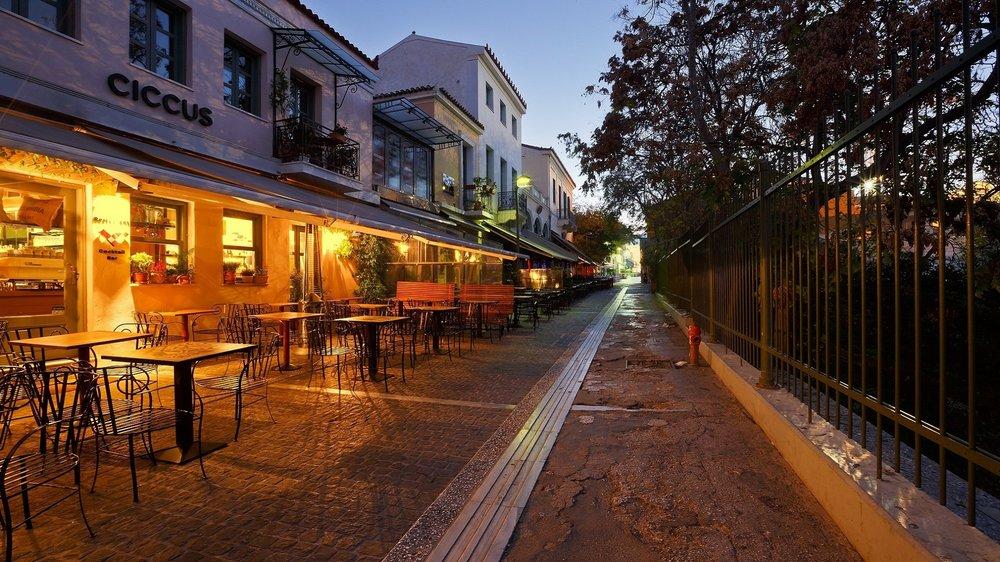 Adrianou pedestrian street in Athens. Source:  Trip2Athens