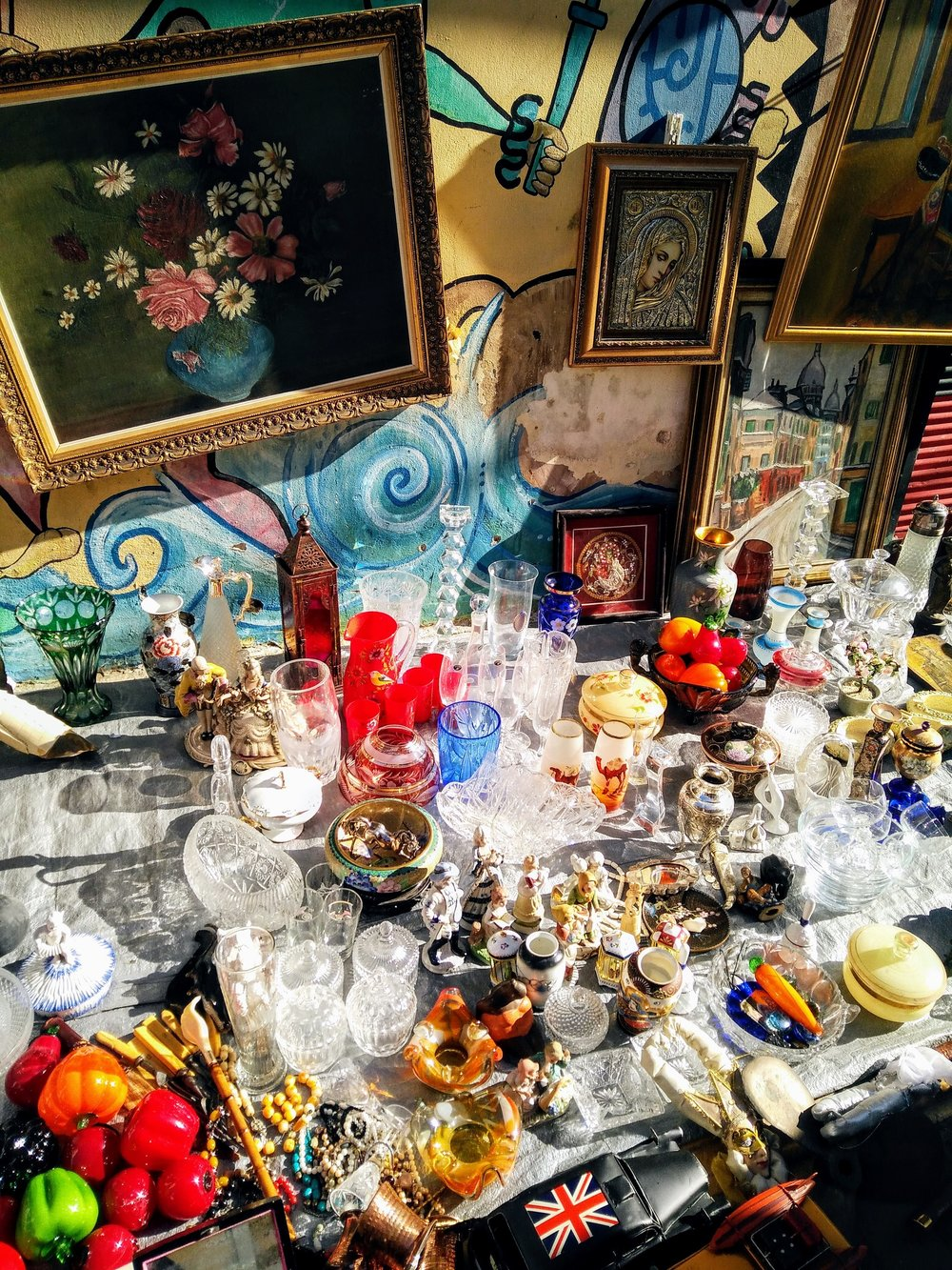 Sparkling objects being sold in Monastiraki