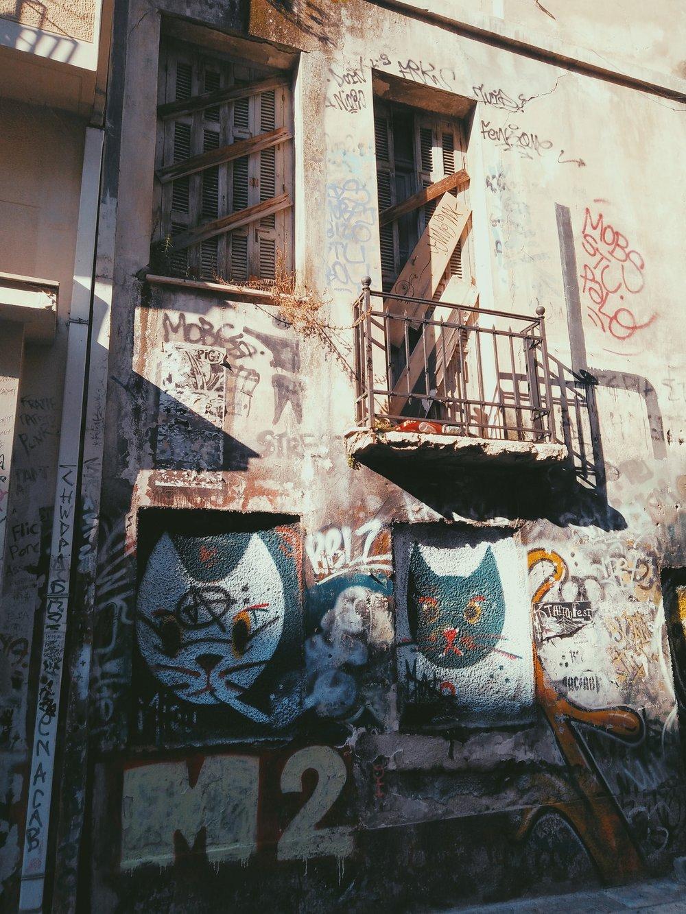 Cute street art in Exarcheia