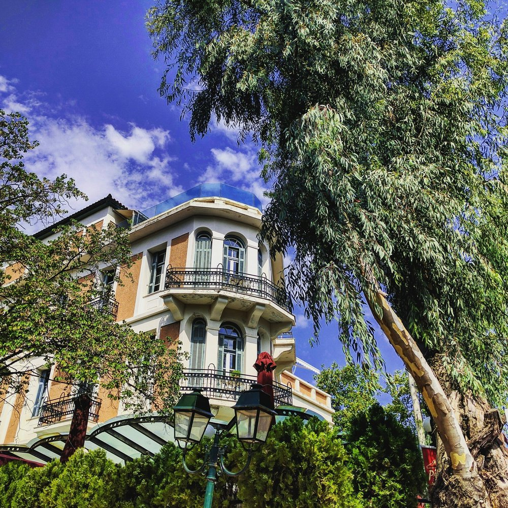 The natural element among human constructions in Kifissia. Source: Truevoyagers