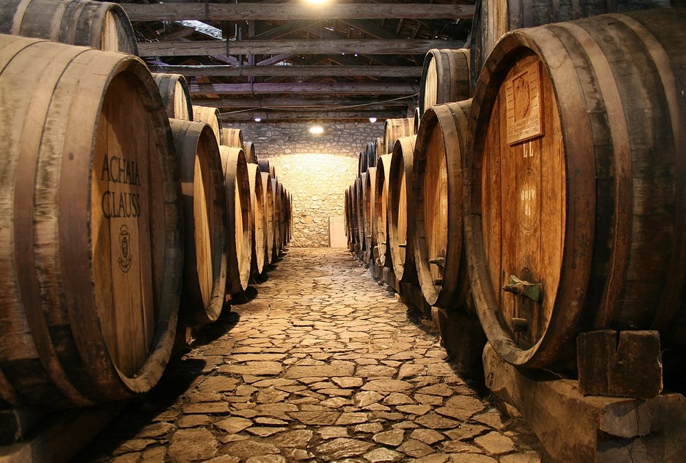 The imperical cellars of Achaia Clauss in Patra, Greece. Source:  Tetartopress