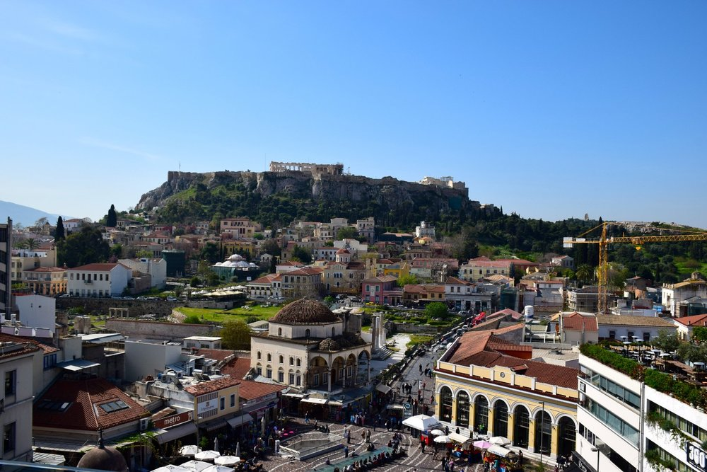 The view to Acropolis from A for Athens hotel. Source: The Dubai Diaries