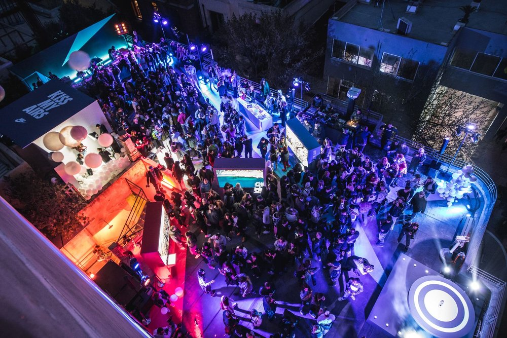 Bios multi-cultural spot as seen from above on another busy event night. Source: Yatzer
