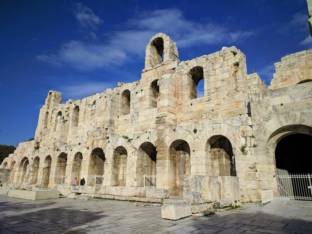 The entrance of Odeon of Herodes Atticus. Source: Truevoyagers