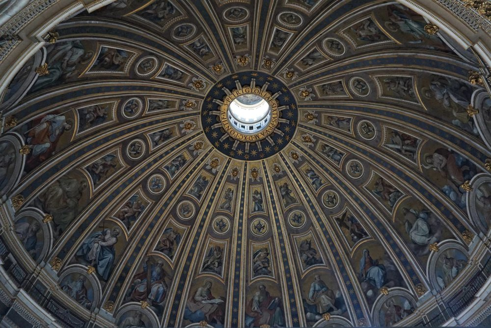 Lavish decoration of the interior of Saint Peter's Basilica. Source: Truevoyagers